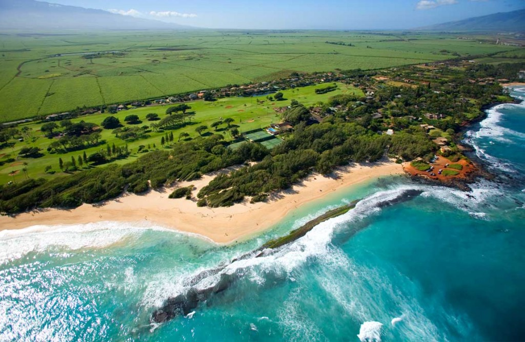 Maui Country Club Grounds and Baby Beach Aerial Photo