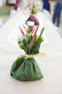 Ti Leaf Centerpiece, Maui Country Club
