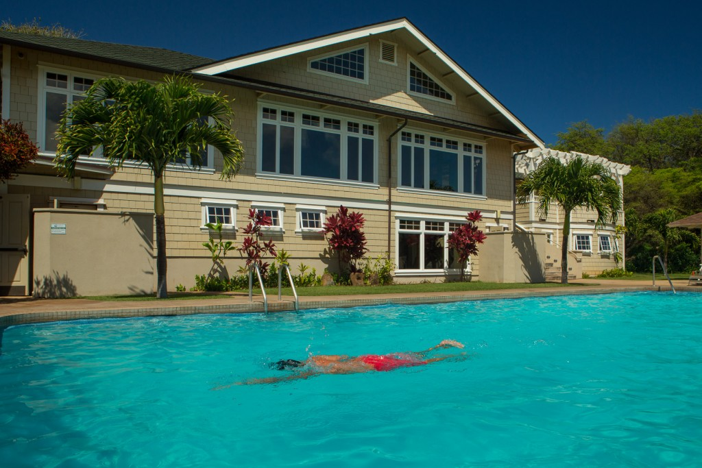 The Heated Swimming Pool at Maui Country Club