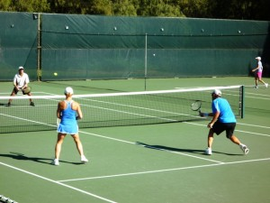 Tennis mixed doubles at Maui Country Club on Maui's North Shore at Spreckelsville