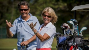 Golfers shaka at Maui Country Club Golf Course