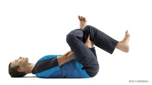 Yoga pose for low back pain relief Eye-of-the-Needle Pose