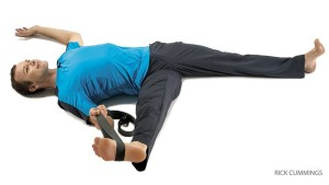 Yoga pose for low back pain Reclining Hand-to-Big-Toe Pose B