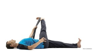 Yoga Pose for low back pain Reclining Hand-to-Big-Toe Pose C