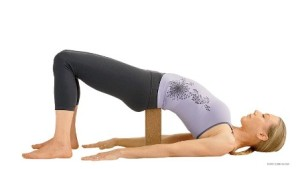 Bridge Pose, supported