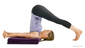 Plow Pose, supported