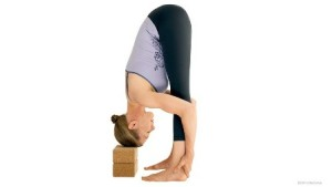 Standing Forward Bend, supported