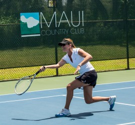 Player Beth McGregor at Maui Country Club