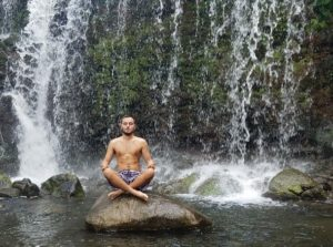 Owen Muller leads guided meditation for mindfulness at Maui Country Club