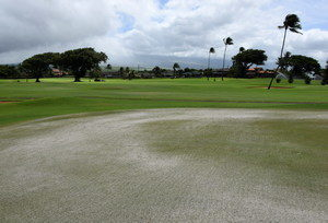Golf Course Aeration - Course Closed @ Maui Country Club - Golf Course