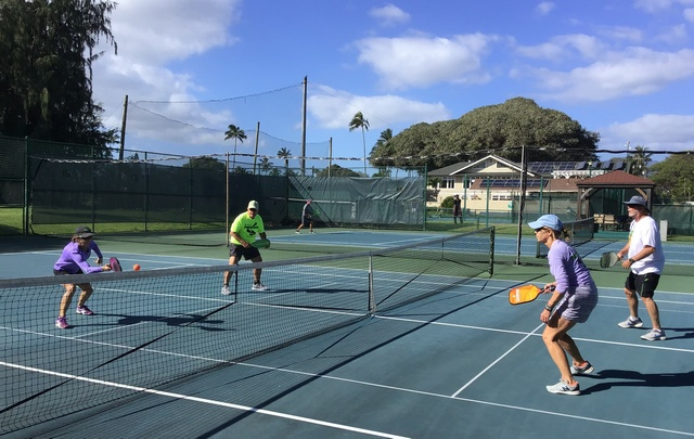 Pickleball Match at Maui Country Club
