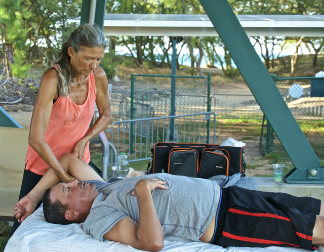 Massage therapy by Grace Pretre at Maui Country Club
