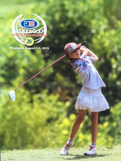 US Kids Golf pictured Maui Jr. Golfer Hazel Peters